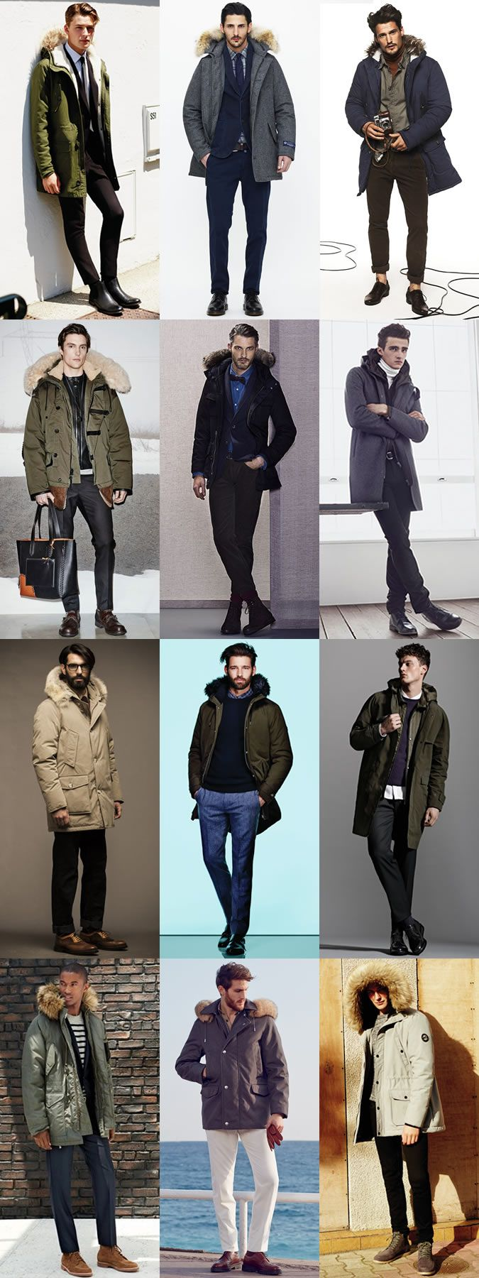 Men's Parka Jackets Outfit Inspiration Lookbook