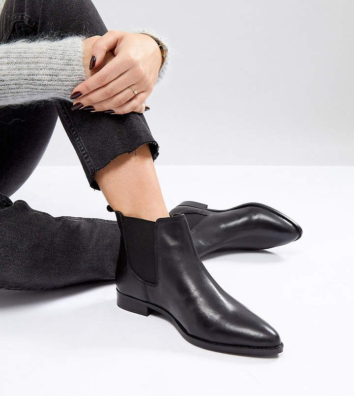 Asos Design Asos Automatic Wide Fit Leather Chelsea Boots Boots Leather Chelsea Boots Chelsea Ankle Boots