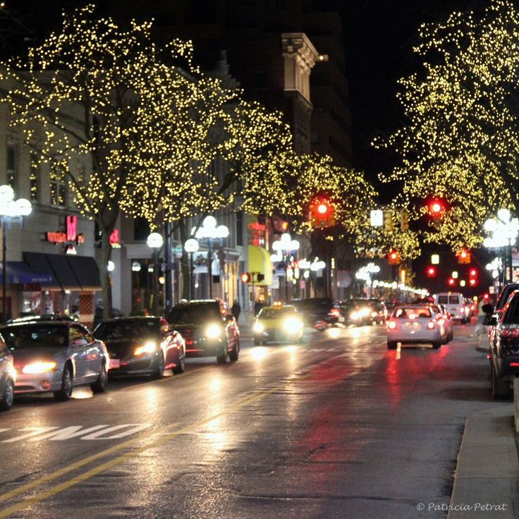 Dressed In Holiday Style Main St Ann Arbor Michigan