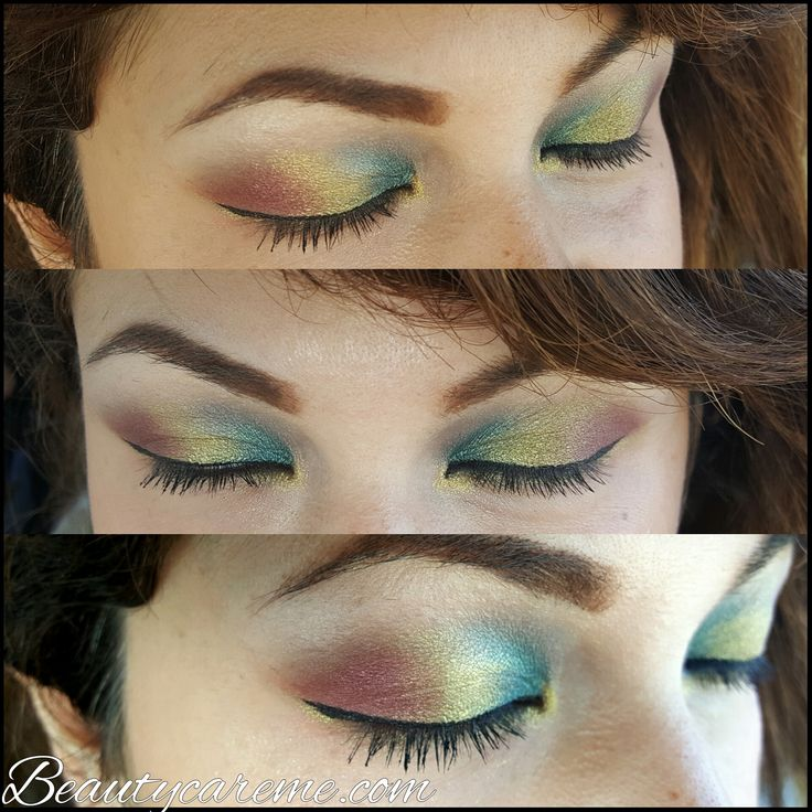 Serpentina makeup look #KatVonDcosmetics #beautyblogger #Serpentina #rainboweyeshadow