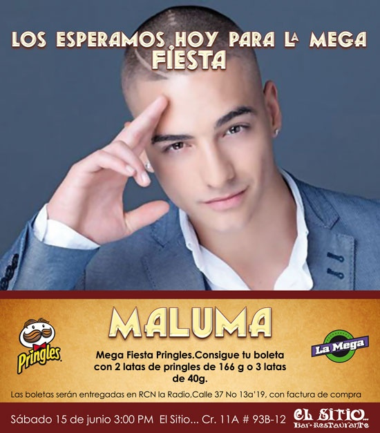 Maluma en El Sitio...