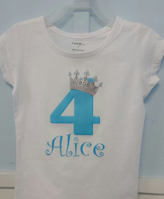 Check out this item in my Etsy shop https://www.etsy.com/ca/listing/257066925/princess-birthday-shirt-crown