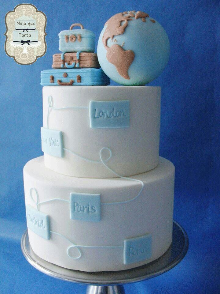 Hochzeitstorte im Flitterwochen-Thema / Mira que tarta Honeymoon cake