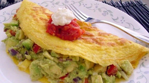 Guacamole Omelette | Breakfasts | Pinterest