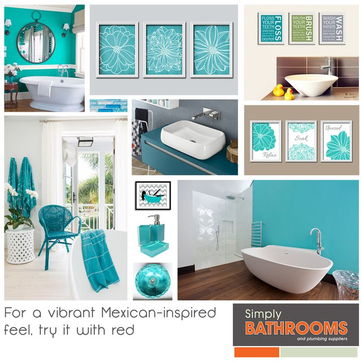 Looking for a Mexican twist in your bathroom? Try this…#BathroomDecor #HomeImprovements