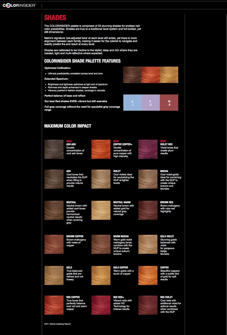 Matrix Colorinsider New Shades Color Charts Pinterest