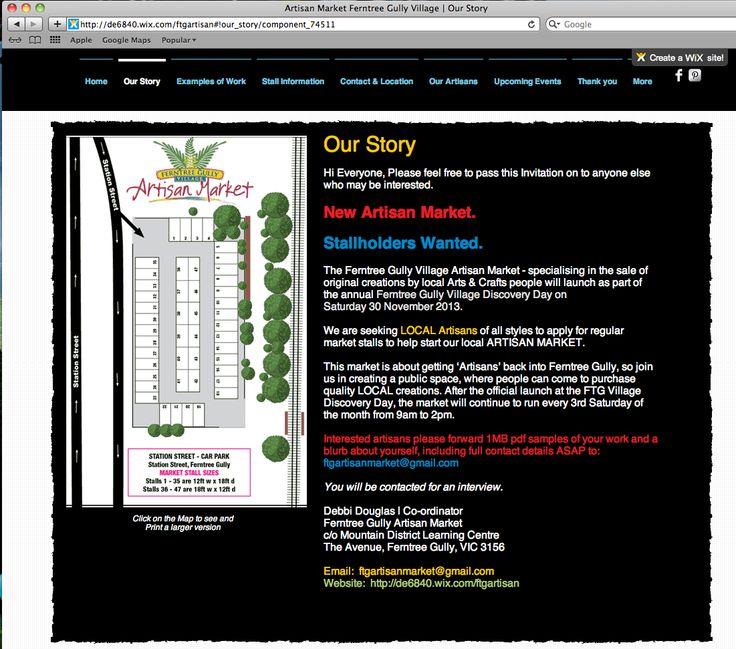 http://de6840.wix.com/ftgartisan Our Story page of our website by Debbi Douglas 2013