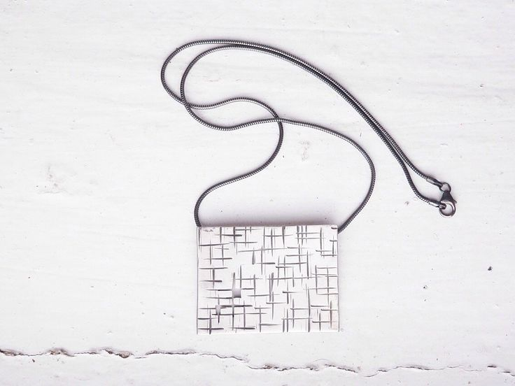 A Maze In Square Necklace – Taer Jewellery