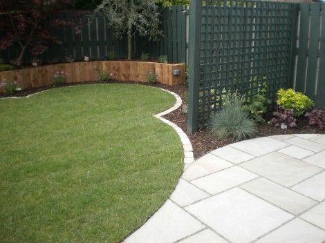 Small Garden Design Ideas   Lawns   Owen Chubb Garden Landscapes Like The  Green Trellising  Small Yard Design Ideas