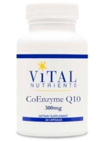 Vital-Nutrients-CoQ10-300mg-30-Capsules-VNCQ300-Exp-8-17-SD