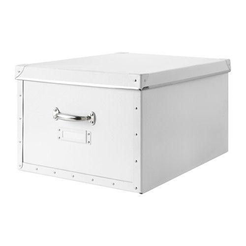 FJÄLLA Kasten mit Deckel, weiß weiß 40x56x28 cm