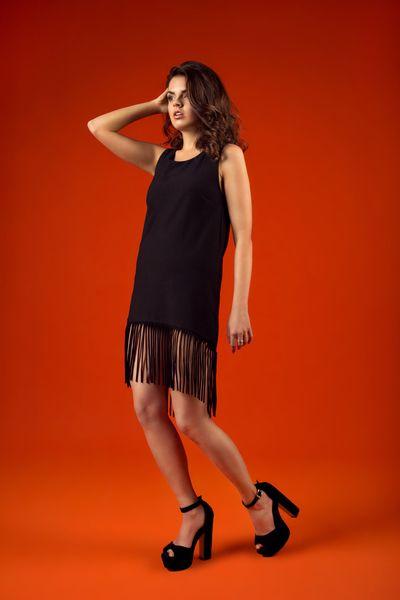 sukienka z frędzlami BLACK SHEEP w NG - Natalia Gorzołka  na DaWanda.com