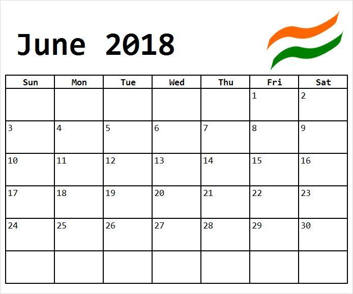 Indian June 2018 Calendar Calendar Pdf July Calendar Free