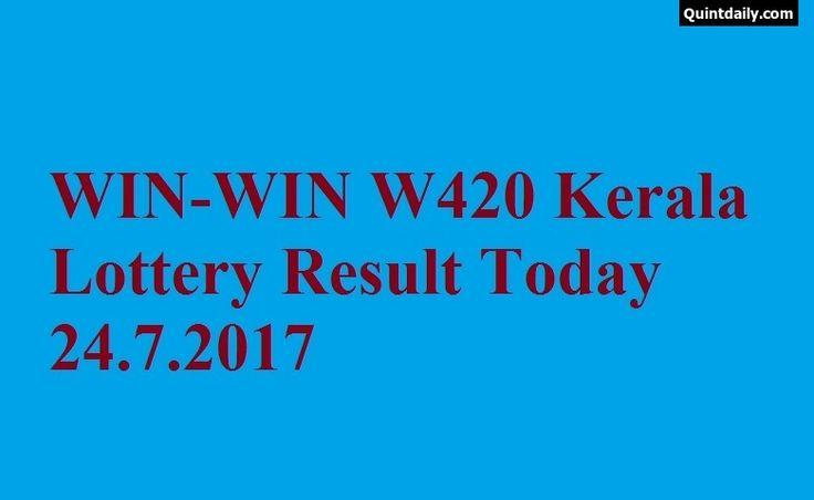 WIN WIN W420 Kerala Lottery Result Today 24.7.2017 - Kerala Lottery Result - Win Win Lottery Result - Win Win W420 Lottery Result - Kerala Lottery.