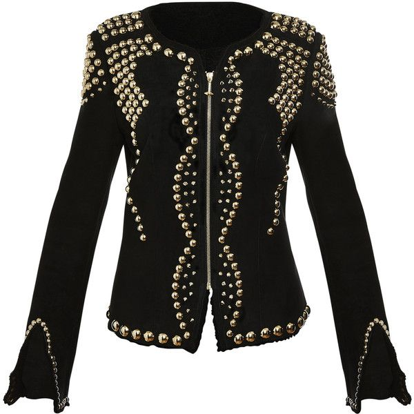 "leather jacket ""majesty"" PHILIPP PLEIN COUTURE ($5,230) ❤ liked on Polyvore featuring outerwear, jackets, embellished leather jacket, 100 leather jacket, leather jackets, philipp plein jacket and embellished jackets"