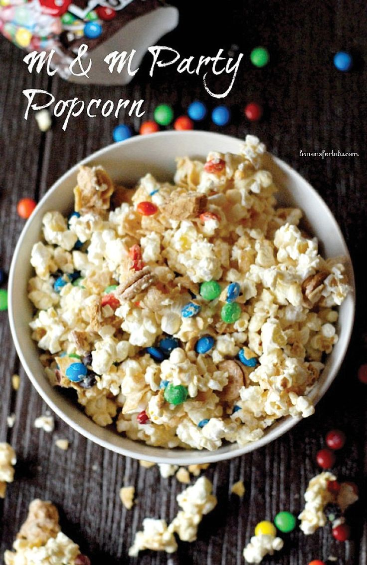 This colorful party popcorn recipe will make your movie watching experience extra fun. Try this delicious popcorn snack at your next movie party!