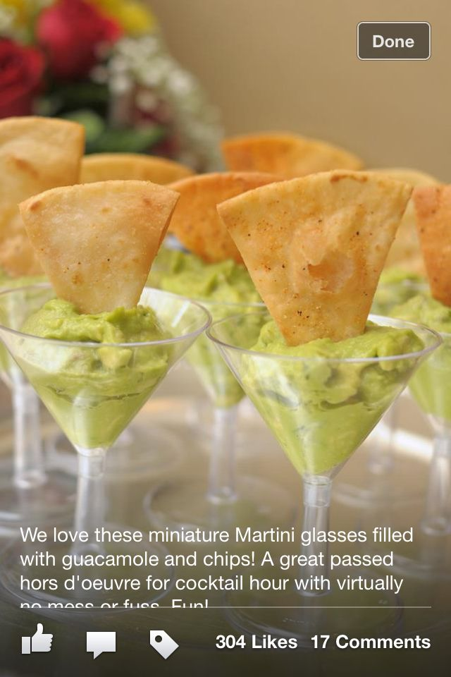 Guac for wedding hors devours!