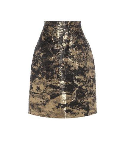 Oscar de la Renta Linen And Silk-blend Skirt For Spring-Summer 2017