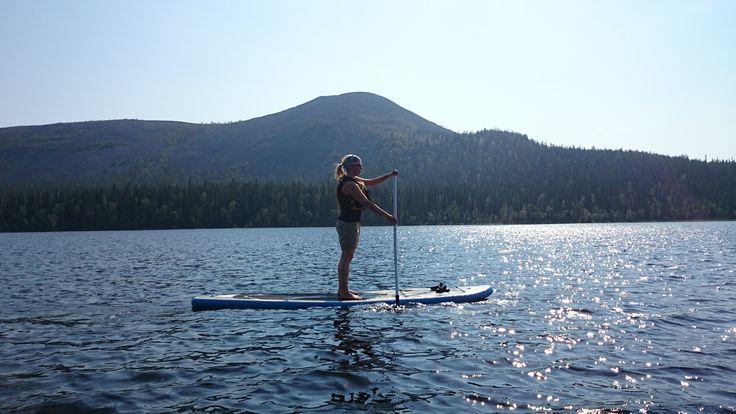 SUP - stand up paddling in Kesänki lake.