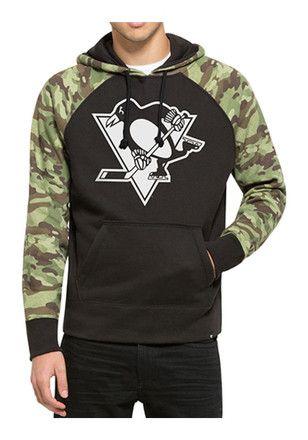 '47 Pitt Penguins Mens Alpha Hood Black Fashion Hood