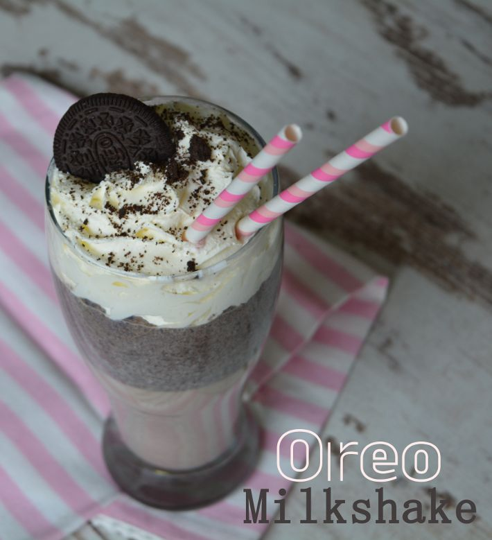 Oreo Milkshake recipe (en español). La mejor receta de batido de Oreo del mundo, super fácil! =) http://quecocinacass.blogspot.com.es/2015/01/batido-de-oreo-reto-alfabeto-dulce.html