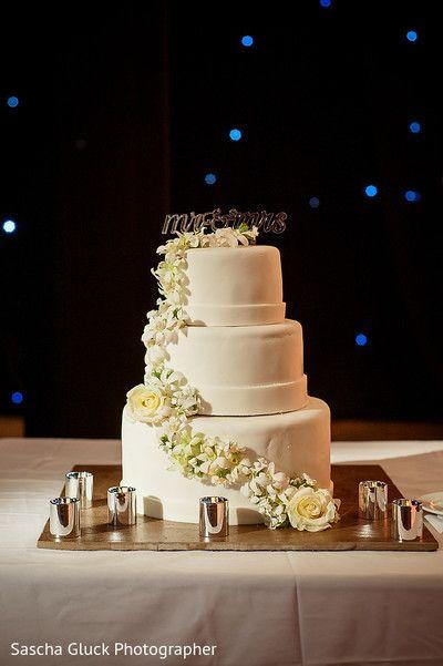 Gorgeous white three layer wedding cake | #destinationwedding at Moon Palace Cancun