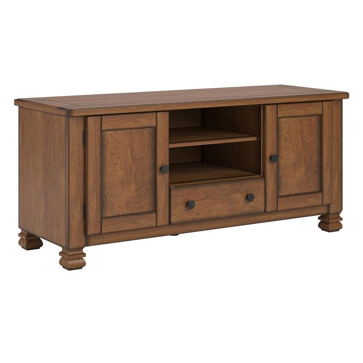 Altra Summit Mountain TV Stand, Brown