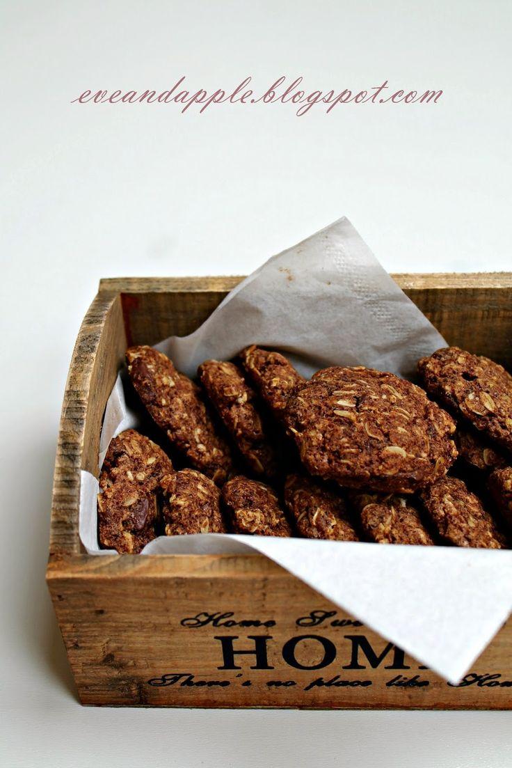 Eve and Apple: Diétás étcsokis fahéjas zabkeksz