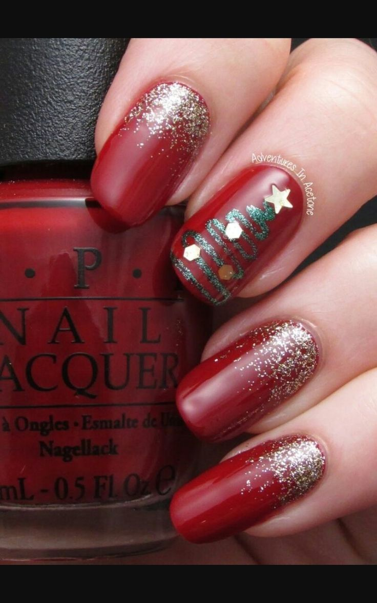 8 best nail art images on pinterest nail art nailed it and easy cute christmas nail ideas and tutorials prinsesfo Gallery