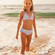 Gorgeous bikini from Platypus Australia. UPF 50+, perfect your little Miss for the beach. Visit our website for size and styles www.riverandsage.com.au