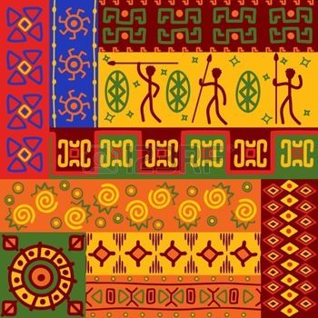 Abstract african ethnic patterns and ornaments for design photo                                                                                                                                                                                 More
