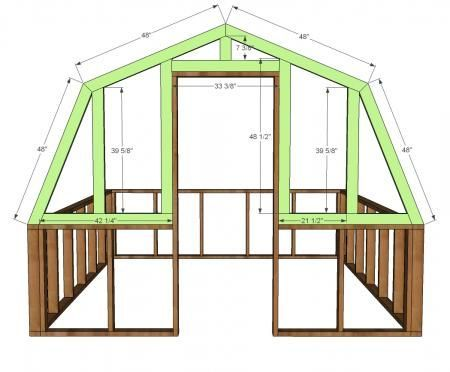 Ana White | Build a Barn Greenhouse | Free and Easy DIY Project and Furniture Pl…