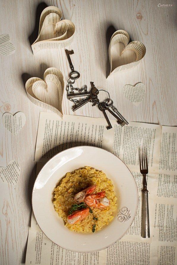 Prosecco Risotto mit Garnelen, Risotto, Prosecco, Garnelen, Valentin, Hauptspeise, Hauptgericht mit Fisch, Meeresfrüchte, Shrimps, Valentinstagsmenü, Dinner, Valentinstag