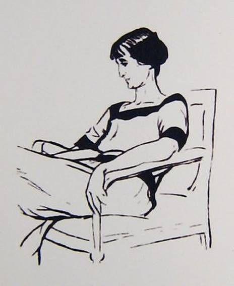К. Елисеев. Анна Ахматова. 1928