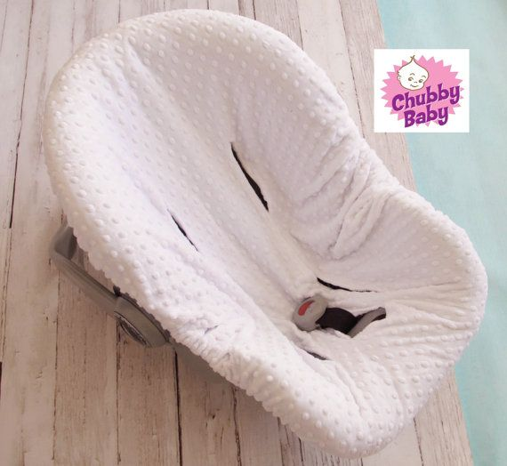 White minky seat slipcover- Fits ALL infant car seats on Etsy, $38.99