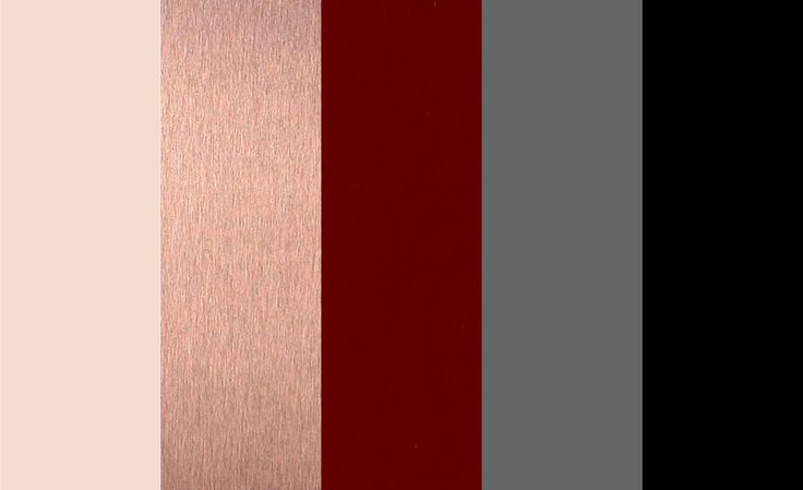 full color palette with black as an accent :) Ivory, Rose Gold, Burgundy, Grey, Black