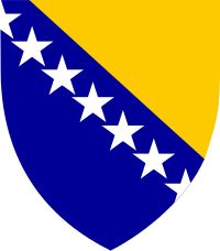 Brasão de armas da Bósnia e Herzegovina. Coat of arms of Bosnia e Herzegovina.