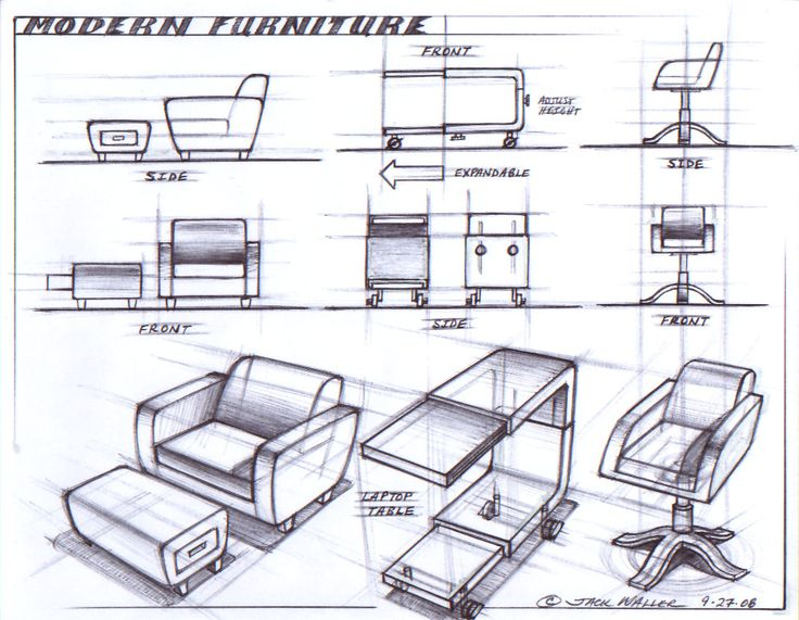 114 best images about furniture sketches on pinterest for Furniture design sketches
