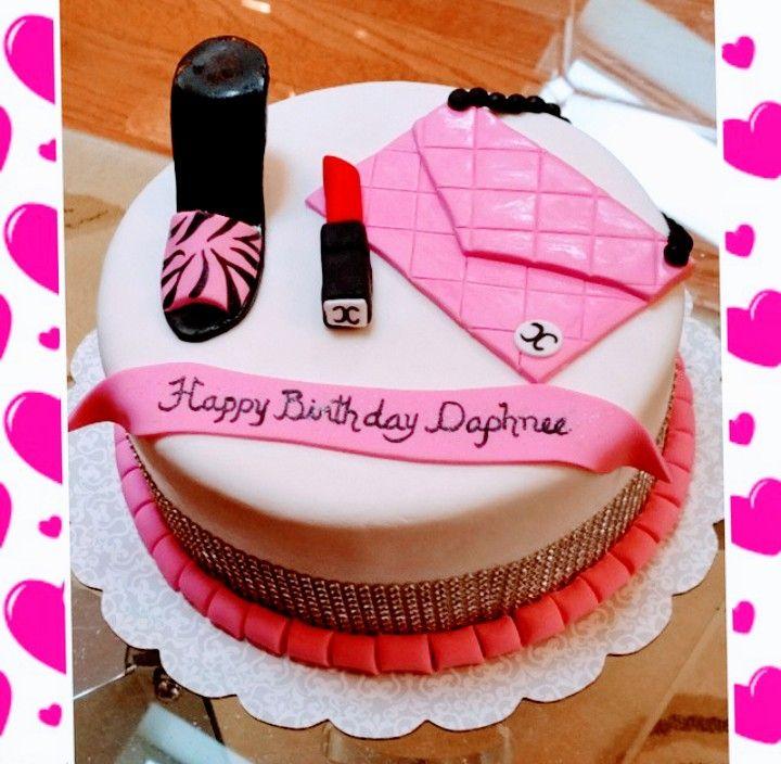 Surprising Custom Shoe Lipstick Purse Bling Cake Bling Cakes Cake Birthday Cards Printable Benkemecafe Filternl