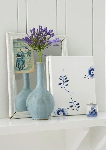 Delftware canvas diy project by Paul Lowe of Sweet Paul