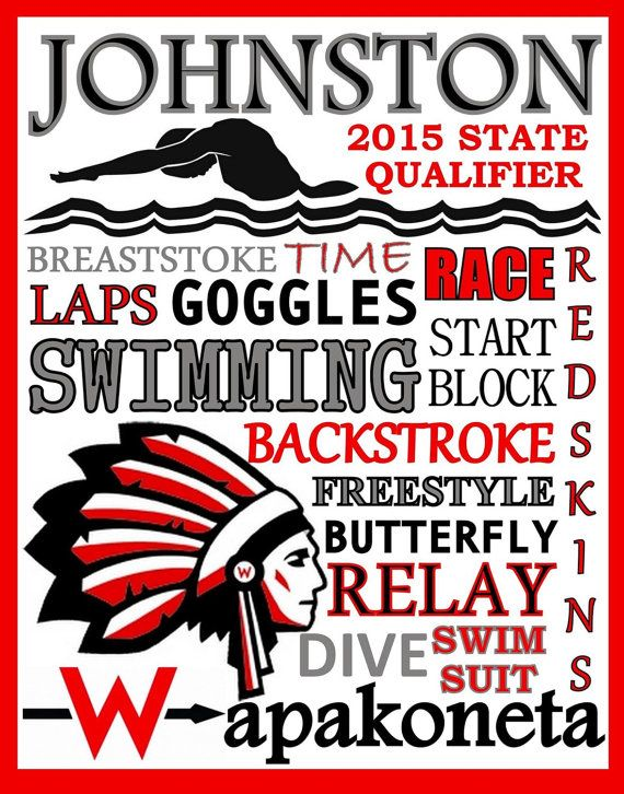 Swimming  Print  custom swimming poster by PinksPerfections