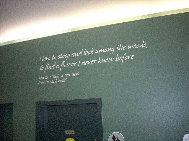 """John Clare- """"To Wordsworth""""  Poetry Installation, Brookfield Public Library"""