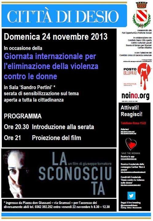 25 novembre 2013 desio contro la violenza di genere