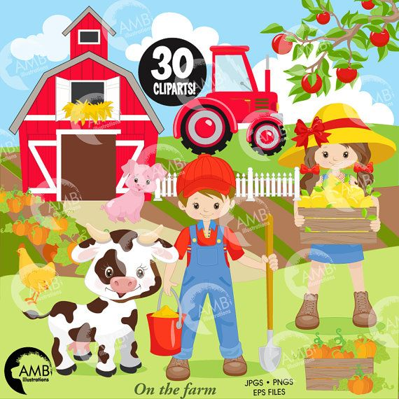 17 Best images about Farmyard - ClipArt on Pinterest | Animales ...
