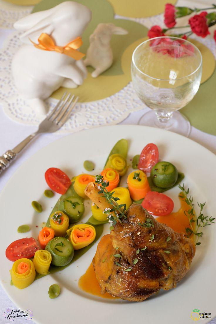 Souris d'Agneau Confites aux Légumes - Safran Gourmand