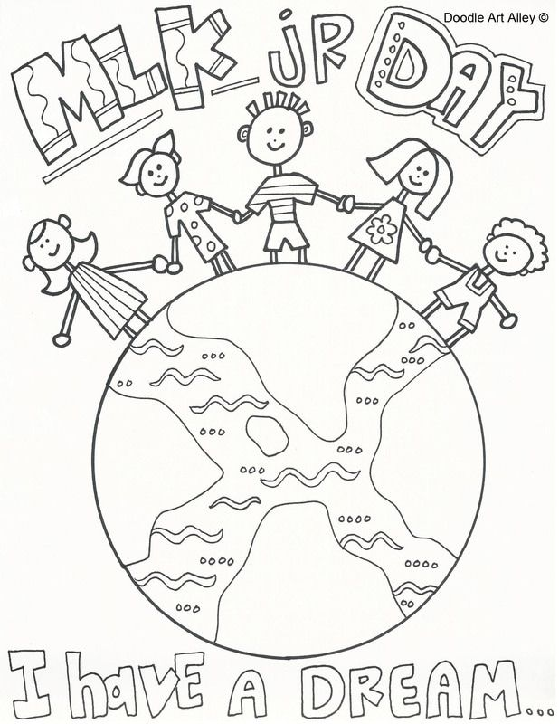 Martin Luther King Jr Coloring Pages From Doodle Art Alley Print