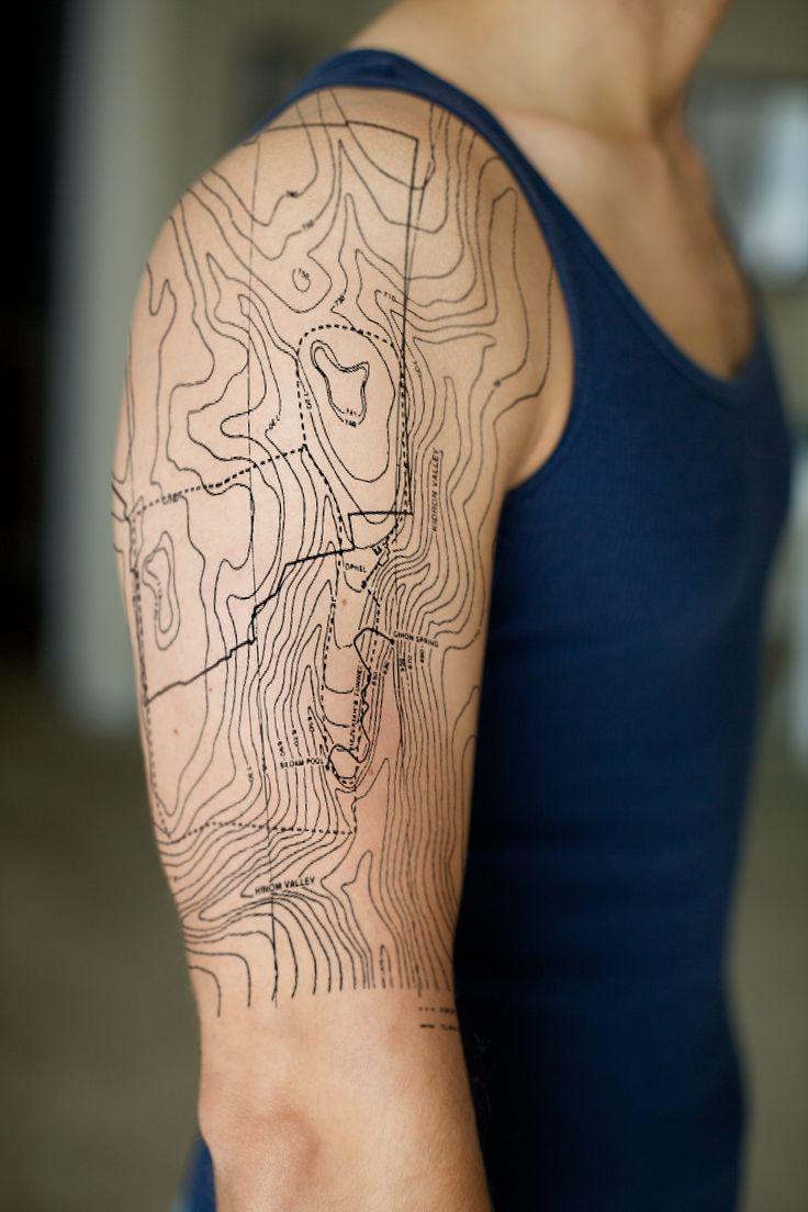 topographic tattoo