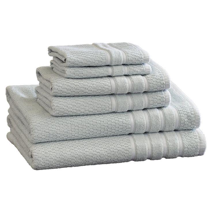 6-Piece Stripe Egyptian Cotton Towel Set