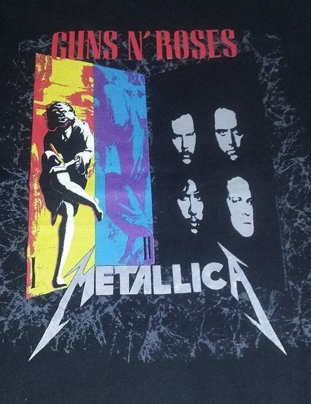 SOLD -  1992 Guns N' Roses Metallica Concert Tour T-Shirt, Large by GailsRusticNotions on Etsy