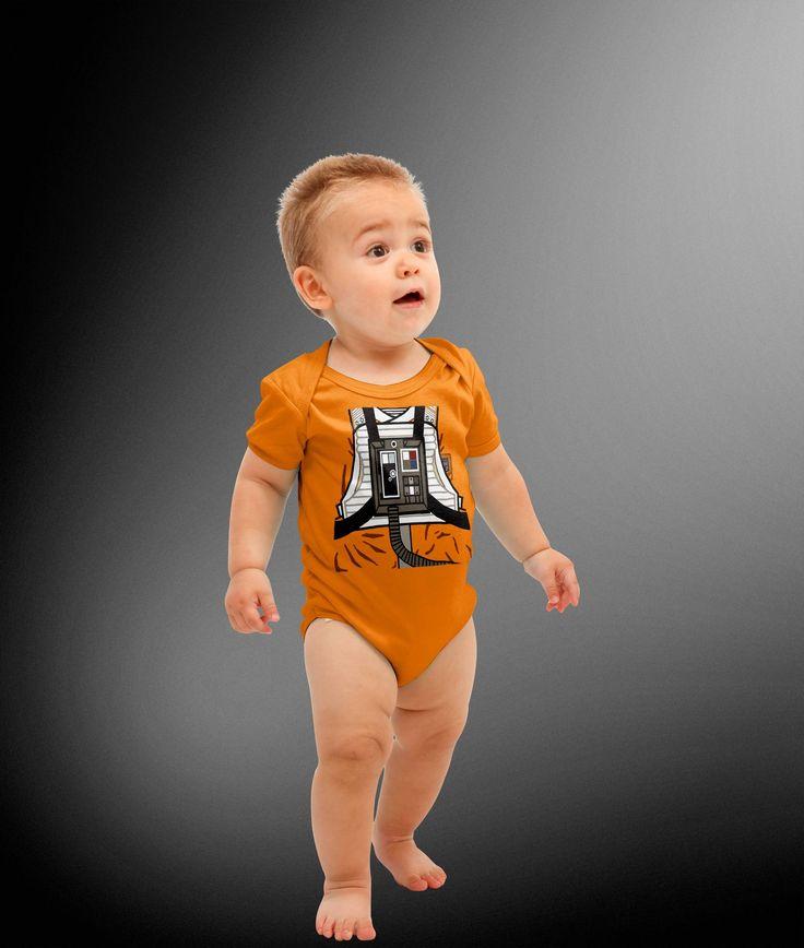 Star Wars Inspired X-Wing Fighter Pilot Costume Cosplay Onesie